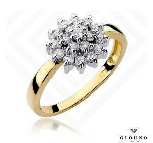 Złoty pierścionek z brylantem 0,40ct pr 585