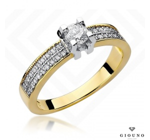 Złoty pierścionek z brylantem 0,48ct
