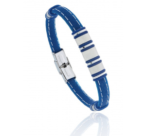 Bransoletka męska na silikonowym pasku - niebieska / BESTSELLER