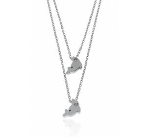 Naszyjnik SREBRNA STAL delfin ŁAŃCUSZEK ANKIER