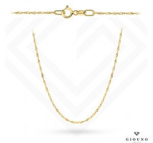 Łańcuszek złoty 585  splot Singapur  50 cm