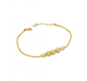 Bransoletka złota ze złotymi kulkami