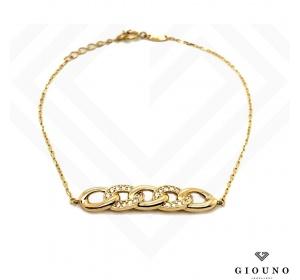 Złota bransoleta damska pancerka splot pr.585