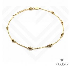 Złota bransoletka NA ŁAŃCUSZKU złote kulki pr.585
