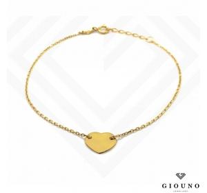 Złota bransoletka SERDUSZKO łańcuszek pr.585