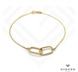 Złota bransoletka na łańcuszku pr.585