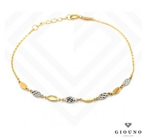Złota bransoletka pr.585 na łańcuszku