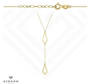 Złoty naszyjnik / celebrytka - ażurowa krawatka / chwost