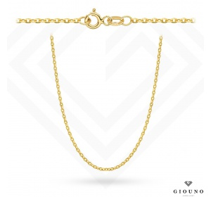 Złoty łańcuszek 585 ROLO DIAMENTOWANY 45 cm