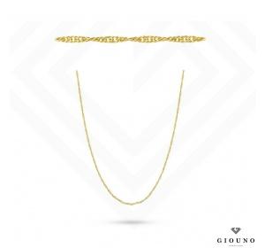 Złoty łancuszek - splot Singapur / 42 cm