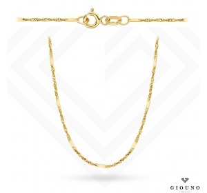 Złoty łańcuszek 585 splot Singapur 45 cm