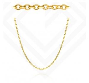 Złoty łańcuszek - splot Ankier / 50 cm / szer. 1 mm