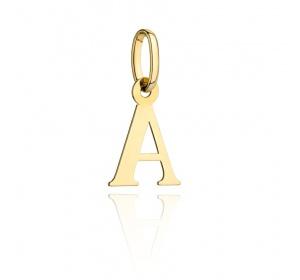 Zawieszka złota - literka ' A '