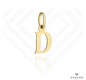 Zawieszka złota 585 literka  D