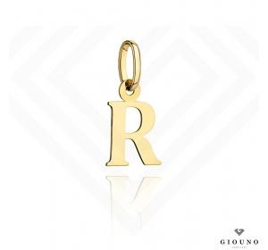 Zawieszka złota 585 literka  R