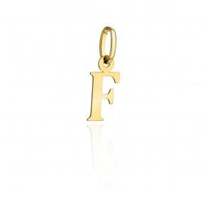 Zawieszka złota - literka ' F '