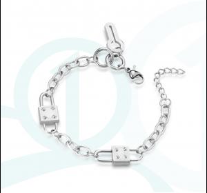 Bransoletka srebrna STAL kluczyk 316L