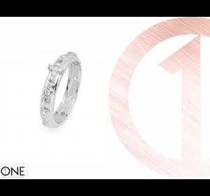 Srebrny pierścionek 925 różaniec