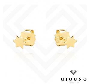 Złote kolczyki GWIAZDKI na sztyft pr.585
