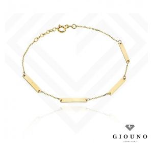 Złota bransoletka damska pr.585 zółte złoto