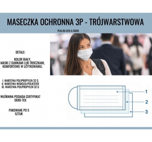 Pakiet I - maseczki ochronne 3 P -5 szt