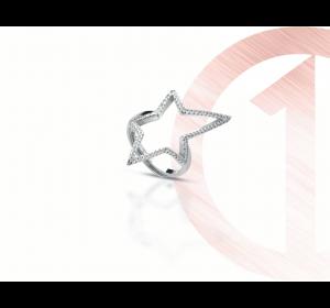 Srebrny pierścionek 925 gwiazdka regulowany