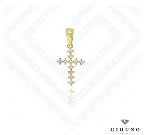 Złoty krzyżyk zawieszka pr.585 z cyrkoniami