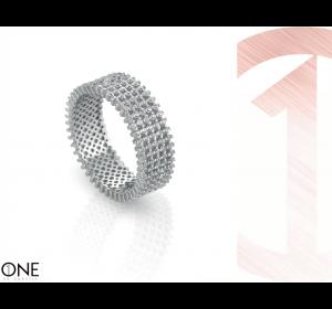 Srebrna obrączka 925 pierścionek