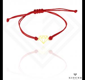 Bransoletka na czerwonym sznurku PR.585 DIAMENT