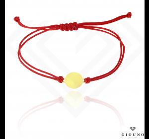 Bransoletka na czerwonym sznurku KÓŁECZKO pr.585