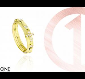 Srebrny różaniec na palec 925 pierścionek różaniec