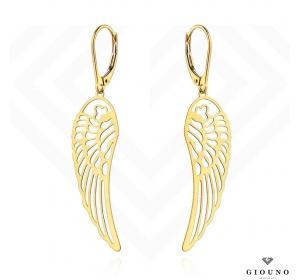 Złote kolczyki wiszące 585 skrzydła anioła