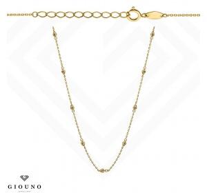 Złoty naszyjnik ze złotymi kulkami i cyrkoniami pr 585 celebrytka