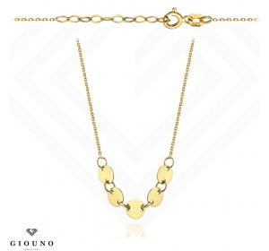 Złoty naszyjnik z pięciu pełnych kółeczek pr 585