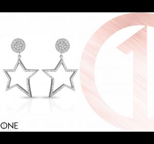 Srebrne kolczyki gwiazdki 925 na sztyft