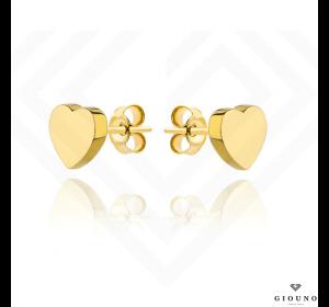 Kolczyki serduszka złote na sztyft pr 585