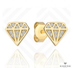 Kolczyki złote 585 DIAMENCIKI na sztyft