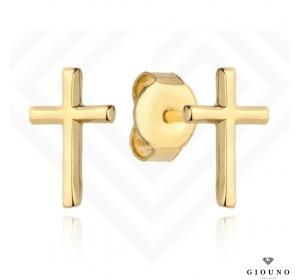 Kolczyki złote 585 KRZYŻYKI na sztyft