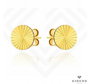 Kolczyki złote 585 na sztyft PEŁNE KÓŁKA diamentowane