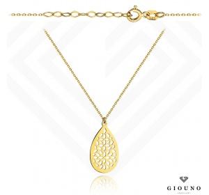 Naszyjnik złoty z ażurową zawieszką ŁEZKA pr 585