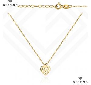 Złota celebrytka z ażurowym SERDUSZKIEM pr 585