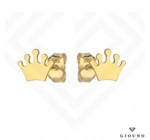 Kolczyki złote na sztyft KORONA pr 585