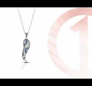Naszyjnik srebrny 925 z zawieszką łańcuszek ankier
