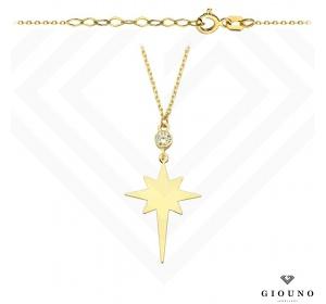 Naszyjnik złoty z GWIAZDKĄ gwiazda polarna celebrytka pr 585