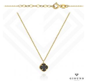 Złoty naszyjnik z zawieszką KONICZYNKA łańcuszek ankier pr 585