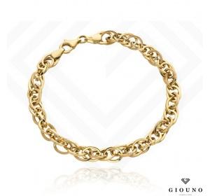 Złota gruba bransoletka 585 splot