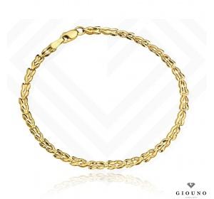 Złota bransoletka 585 elegancka splot