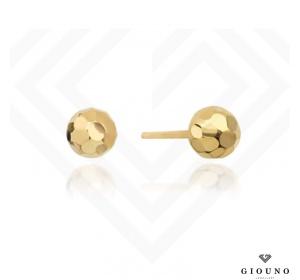 Złote kolczyki 585 KULECZKI PARTY 6 mm