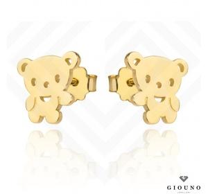 Kolczyki złote na sztyft 585 MIŚ dla dziewczynki