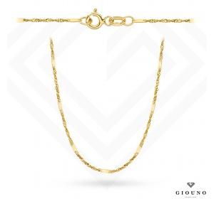 Złoty łańcuszek 585 singapur z blaszka 42 cm
